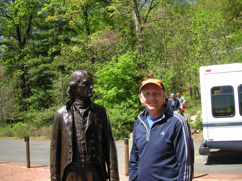 Bob and good friend Thomas Jefferson -- April 7, 2012.