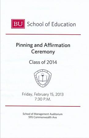 Josh Pinning & Affirmation Ceremony