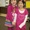Feb 1st was Twin Day at Tiffany's Senior Kindergarten. On this day, the girls can choose a friend to dress alike for the day. Here Tiffany's twin was Kaleigh T.