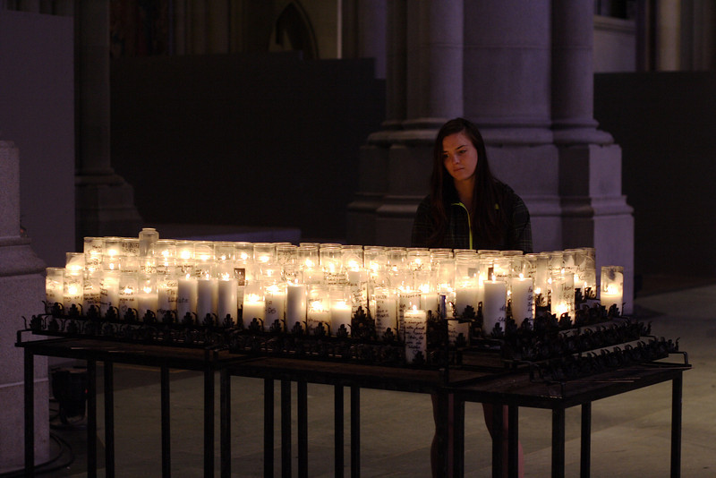 IMG_9546 Kristin, candles St John the Devine Cathedral NYC DPP