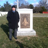 Bob at the Columbia memorial on Feb 1, 2013 -- 10 years since loss of Columbia and crew