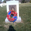 Wreath placed at the Columbia Memorial at Arlington National Cemetery on Feb 1, 2013 -- 10 years since loss of Columbia and crew.