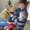 Babysitting and reading a book - Ian and Cindy