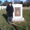 Bob at the Columbia memorial on Feb 1, 2013 -- 10 years since loss of Columbia and crew.