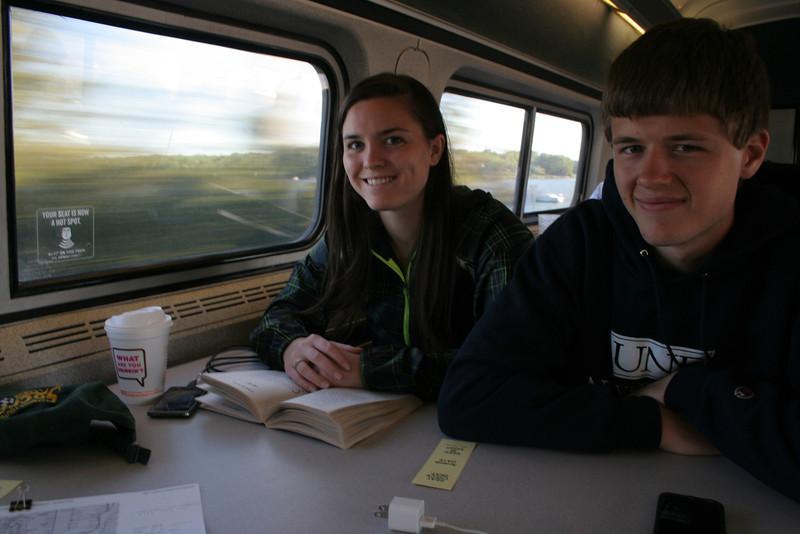 IMG_9509 Kristin, CJ on train to NYC