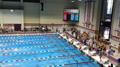Patrick is in Lane 7.  100M Back at Texas A&M.