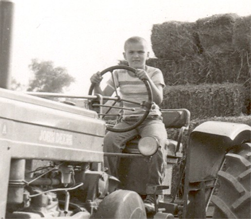 Age 11 16 Bob on Tracter about 12
