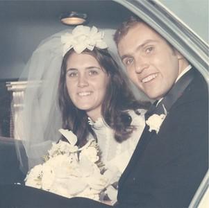Age 22 07 Wedding Bob Shirley in car