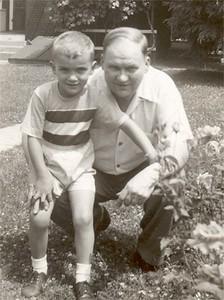 Age 6 09 Bob and Grandpa Bow about 6