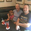 Stuart, Dia and I, at Stephen's local pub, having lunch.