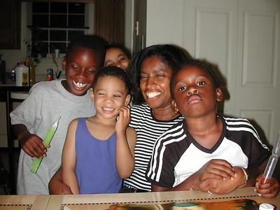 Brandon, Teleah, Jaylen, Ruth, Lauren 4th of July, 2000