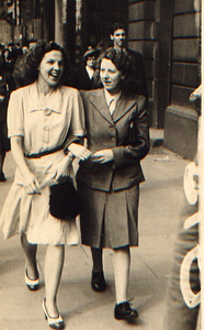 Kay-34: Maisie McKeown and her friend Eileen Prentice (nee Montgomery)