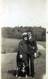 Kay-14: Annie Patterson and William (Bill) Patterson Snr, The Captain - She is expecting her first child, Bob.