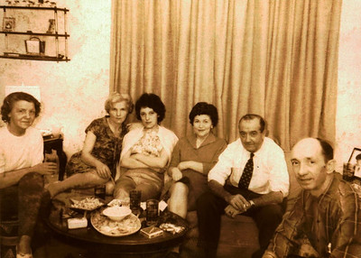 Kay-25: Annie Patterson , May (Maisie) Barr, Barbara Groman, Eileen Donavan and & William (Bill) Patterson aka The Captain, and Mike Donavan.