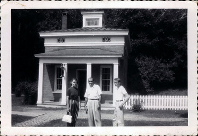 Kay-20: Annie Patterson, The Captain and Jimmy Patterson at Cooperstown, New York crica 1950
