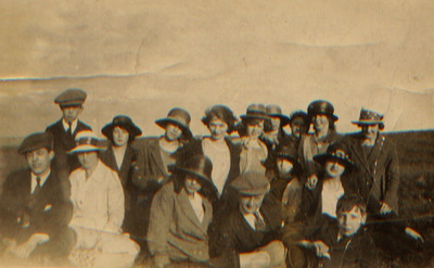 Kay-41 : Sunday school teachers outting. Annie 2nd from right in front row.