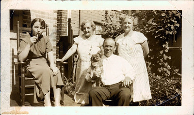 Kay-26: Annie Patterson (McKeown, Emily (Granny) McKeown, Emily (Cissy) McKeown, Uncle Harry and Annie  nee Prescott , Philadelphia late 1930s.