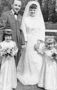 DPB-09: Rear: Jimmy Patterson marrying Kay Patterson (nee McCullough) Front: Michelle McCullouch (later Smith) and Anita Durant 1967