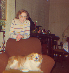 DPB-41: May (Maisie) McKeown and dog Sandy in 1960s