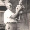 Jay & Grandad<br /> 4 months old<br /> 6/27/45