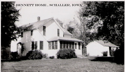 4 - Bennett home, Schaller, Iowa
