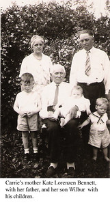 Carries mother with her father Grandfather Lorenzen