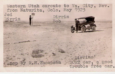 3 - RHT Dirrims on way to Nevada 1923