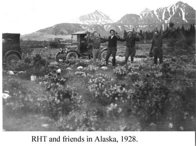 9 - RHT and friends on road crew in Alaska, 1928