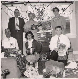 20 - christmas at aunt addies w dad, uncle jim, mother, aunt