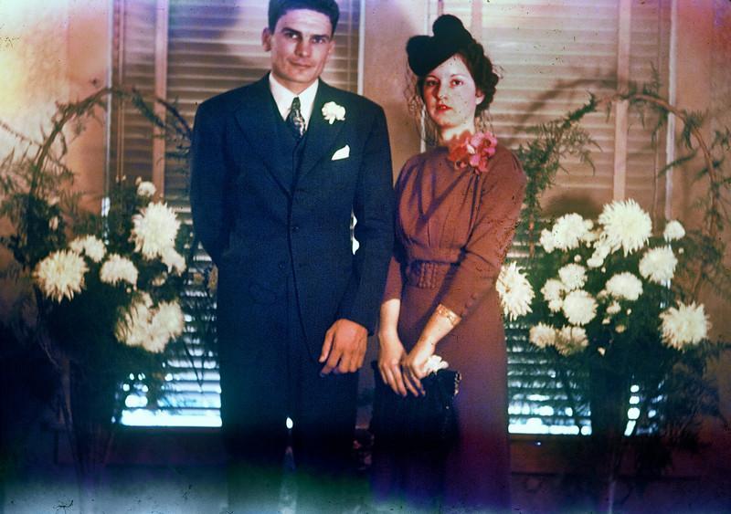Herman & Gertrude's wedding, Kingsville, 1939