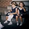May 1957, Judy Whiteman's 1st birthday. Judy, Elaine, Diane