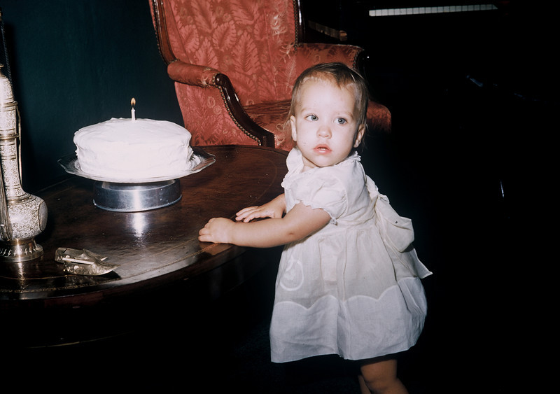 May 1957, Judy Whiteman's 1st birthday.