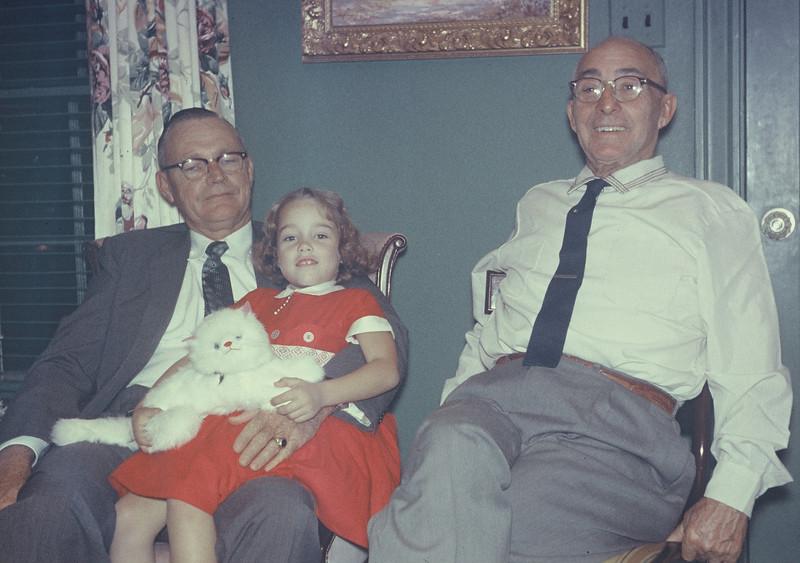 Christmas 1956. Sam Tigner, Elaine, Joe Bodin
