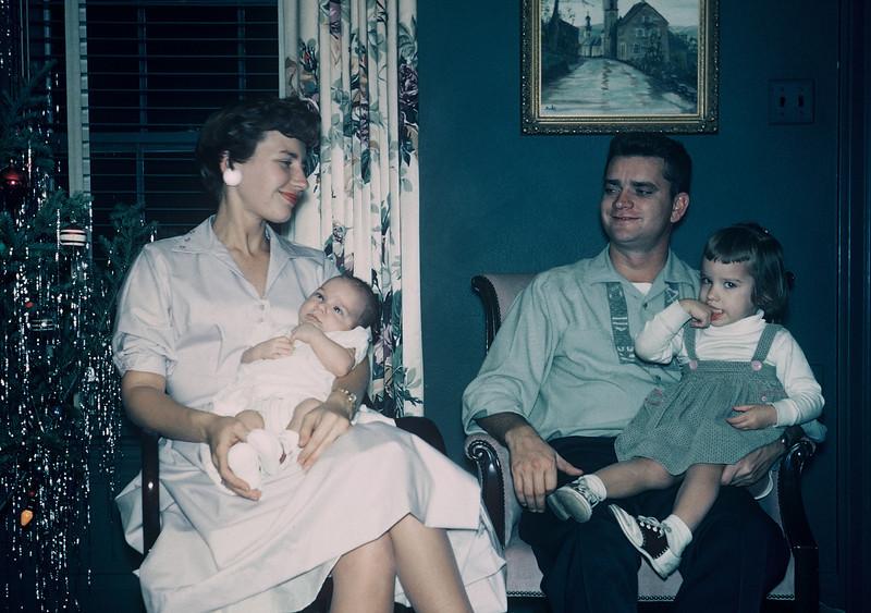 Christmas 1958. Shirley, Kurt, Dave & Judy