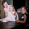 May 1957, Judy Whiteman's 1st birthday. Diane, Shirley, Judy, Elaine