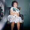 May 12, 1957. Kathy's 8th birthday. Kathy & Smokey.