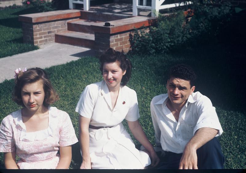 Shirley, Gertrude, & Herman, 1944. 2411 Swift St.