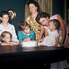 May 1957, Judy Whiteman's 1st birthday. Milton, Diane, Kathy, Gertrude, Shirley, Judy, Elaine