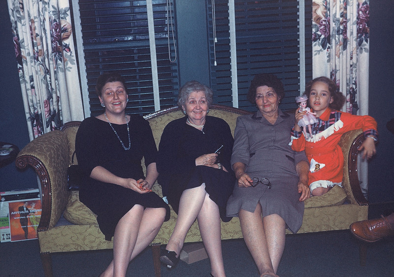 Christmas 1958. Virginia, Lula, Pearl, Elaine