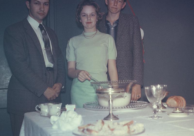 Christmas 1956. Jack Cuviller, Carolyn & Warren Tigner