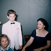 May 12, 1957. Kathy's 8th birthday. Kathy, Milton, & Gertrude