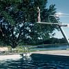 Tennwood, 1957. Milton on the high board.