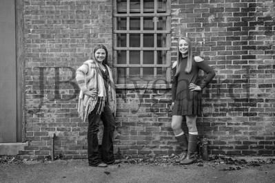 11-02-16 Madison and Lauren Bassett-1bw