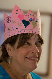 Pam with her crown.