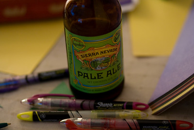 Amongst the Birthday Crown construction tools, a telltale Sierra Nevada.
