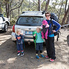Mount Field carpark - ready to start our bush walk