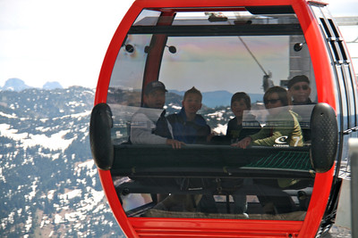 We rode the gondola to the top of Crystal Mountain to see the view.