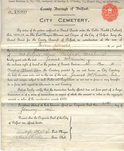 City Cemetery Papers 1936