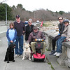 Our family and extended family.   Photo was taken in 2009 when my dad was living with us.<br /> <br /> Left to right:  Our daughter,Caroline with our black lab Chester, in-laws Bob and Alice in the back, by dad in his scooter, me and then my son Callum.<br /> Yellow lab is my dad's - her name was Sugar.