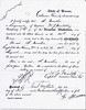 """ANDREW MATHER'S HONORABLE DISCHARGE - 1874<br /> Andrew Mather's discharge papers from the Texas Rangers Company """"E"""" of the Frontier Battalion, commanded by Capt Jeff Maltby. His tour of duty is listed here as May 30, 1874 to August 31, 1874, but he was actually in for six months. See the next page."""